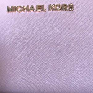 Michael Kors Bags - Michael Kors dusty pink wallet gold hardware
